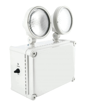 Emergency Light WeatherProof Twin-spot LED